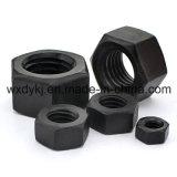 DIN 934 catégorie 8.8 de l'écrou noir haute résistance les écrous hexagonaux en acier au carbone