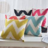 綿のリネンプリントベッドのための18インチのピンクの投球枕