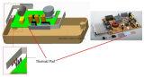 Pista termal de la alta de la conductividad del silicón de la pista pista conductora ultra fina del disipador de calor para el disco duro