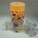 Bello reticolo ornamentale Wedding personalizzato stampato candele di plastica del LED