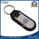 주문을 받아서 만들어진 호화로운 VW 차 로고 가죽 열쇠 고리