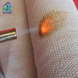 Tissu de fibres de céramique pour le four, chiffon avec de l'isolation thermique ss fil avec câble en fibre de verre, bande de fibre optique