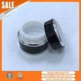fournisseur en aluminium de verre noir de choc de 7g 15g 30g 50g pour la crème de nuit