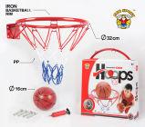 Mini aro de baloncesto montado en la pared, juego de los deportes de interior para los niños y adultos