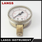 calibrador de presión usado oxígeno 057 de 50m m con interno de cobre amarillo