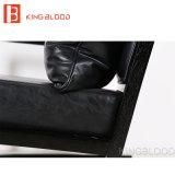 Presidenza nera di legno del sofà della presidenza del braccio del cuoio genuino di svago moderno di Hotsale