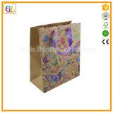 色刷を用いるリサイクルされたクラフト紙の昇進のギフトの紙袋