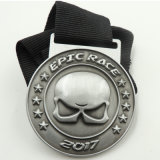 Custom 3D Silver Metal Medal with Competitive Factory Price