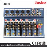 USBが付いている7つのチャネルDJ音楽ミキサーのプロ可聴周波ビデオミキサー