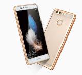 Neu kommen ultra dünnes weiches TPU Gold überzogener Rand-Kasten für Huawei P9 plus Gehilfen 9 an