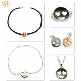 Gepersonaliseerd 925 Zilveren Reeksen van de Juwelen van de Gebarentaal van Emoji van Lippen Smiley Zilveren (S3394)
