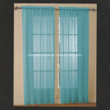 100%fibras tingidas Voile Cortina da janela do Painel