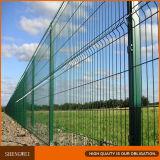 Загородка ячеистой сети безопасности с загибами