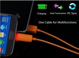 cable de datos ligero del USB del 1m LED 2in1 para el iPhone