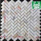 Natürliche weiße Carrara-Marmormosaik-Fliese für Küche-und Badezimmer-Bodenbelag