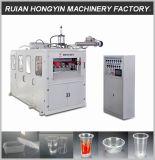 Recipiente de plástico de alta eficiencia termoformadora automática de la línea de producción