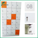 18 casier mélangé de la clé de couleur de portes HPL pour l'édifice public