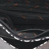 Sacchetto di Tote elegante delle 2017 della banda dell'unità di elaborazione della maniglia donne in bianco e nero del sacchetto