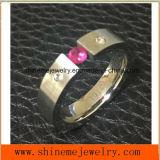 卸し売りボディ宝石類のワイヤーによって切られるステンレス鋼のリング(CZR2589)