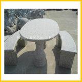 屋外の花こう岩の石の庭の家具