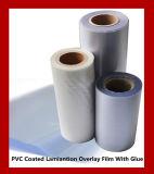 Laminado con blanco Core PVC Overlay recubierto con pegamento fuerte