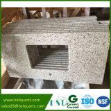 Het Grijze Graniet die van Custome Countertop van de Keuken van de Steen van het Kwarts kijken