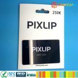 Impresión de encargo del PVC VIP tarjeta de regalo con el titular de la tarjeta de papel