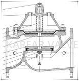 (460X) Corte lenta oblíquo uma forma ou a Válvula de Retenção de Retorno