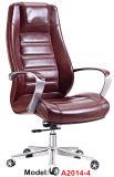 Cadeira executiva ergonómica da saliência do metal de couro de madeira da mobília de escritório (A2014-4)