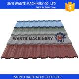 Mattonelle di tetto rivestite del metallo della pietra di alluminio 55% popolare internazionale in Africa