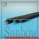 Sunbow 2.5kv die überzogene acrylsauerglasfaser, die 6mm Sleeving ist, bohren Schwarzes