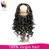 Moda Remy Brazilian Human Hair 360 Lace Frontal Bondage Closure