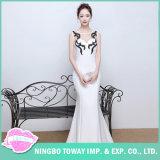 Вечер долго невесты Sequin белого платья для свадьбы
