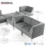 Sofá modular secional da tela cinzenta moderna de Orizeal (OZ-OSF019)