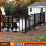 загородка бассеина плоской верхней части черноты высокия уровня безопасности 1200mm стальная для рынка Nz Au США Ca