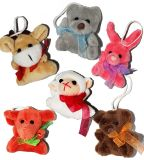 ICTI에 의하여 감사되는 공장 주문 소형 동물성 견면 벨벳 장난감