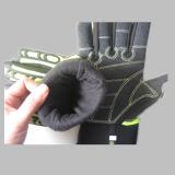 Тумак эластика перчатки работы ударопрочного микро- волокна защитный TPR