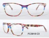 Het nieuwste Optische Frame van de Glazen van de Acetaat van Eyewear van de Steen van de Stijl Kleurrijke