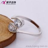 Кольцо перста венчания ювелирных изделий цвета родия Zircon 13351 способа