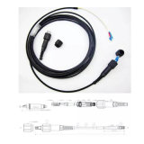 Alto rendimiento de la fibra IP-Sc del cable al aire libre de la corrección en impermeable para la transmisión del Wdm del solo modo