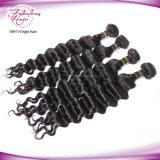 Выдвижение человеческих волос девственницы оптовых волос Remy девственницы свободное волнистое перуанское