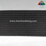 Una tessitura di nylon Grooved nera da 1 pollice ha in azione