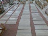 Il marmo bianco del legname copre di tegoli il marmo del legname di bianco cinese