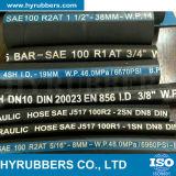 GummiEdelstahl-Draht-umsponnener flexibler quetschverbindener hydraulischer Gummischlauch