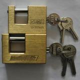 Cerraduras de cobre amarillo del candado rectangular de cobre amarillo sólido (BX990)