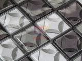 Серая и серебряная плитка мозаики кристаллический стекла цвета 3D (CFC684)