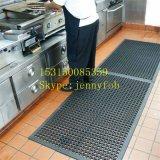 Entwässerung-ermüdungsfreie Gummifußboden-Matten-Gummiküche-Matte
