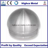 Pasamano del acero inoxidable con el casquillo de extremo en forma de cúpula