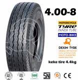 Neumático 4.00-8 de Tuk Tuk del neumático del policía motorizado del neumático tres del triciclo de Mrf del modelo de la India