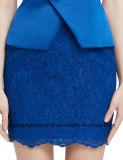 голубое короткое платье выпускного вечера шнурка платьев вечера шикарное сексуальное безрукавный